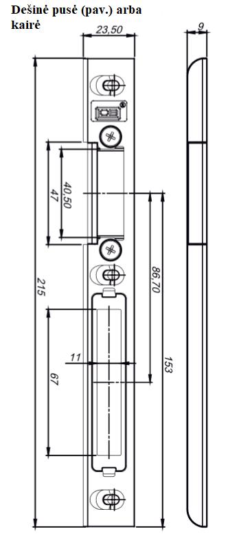 Nerūdijančio plieno plokštelė reguliuojama RW01